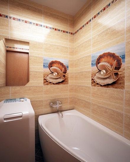 Дизайн ванной с ракушками